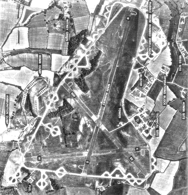 Look for the outline of this concrete parking area to spot the last remains of Chipping Ongar's WWII airfield close to Willingale when you are ballooning over Essex