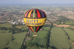 Fly on our Happy Birthday Balloon flights from Braintree