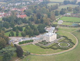 Aerial view and pictures of Terling Place near WItham Essex