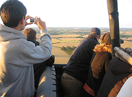 Great opportunity to take aerial pictures on our balloon flights from Gosfield